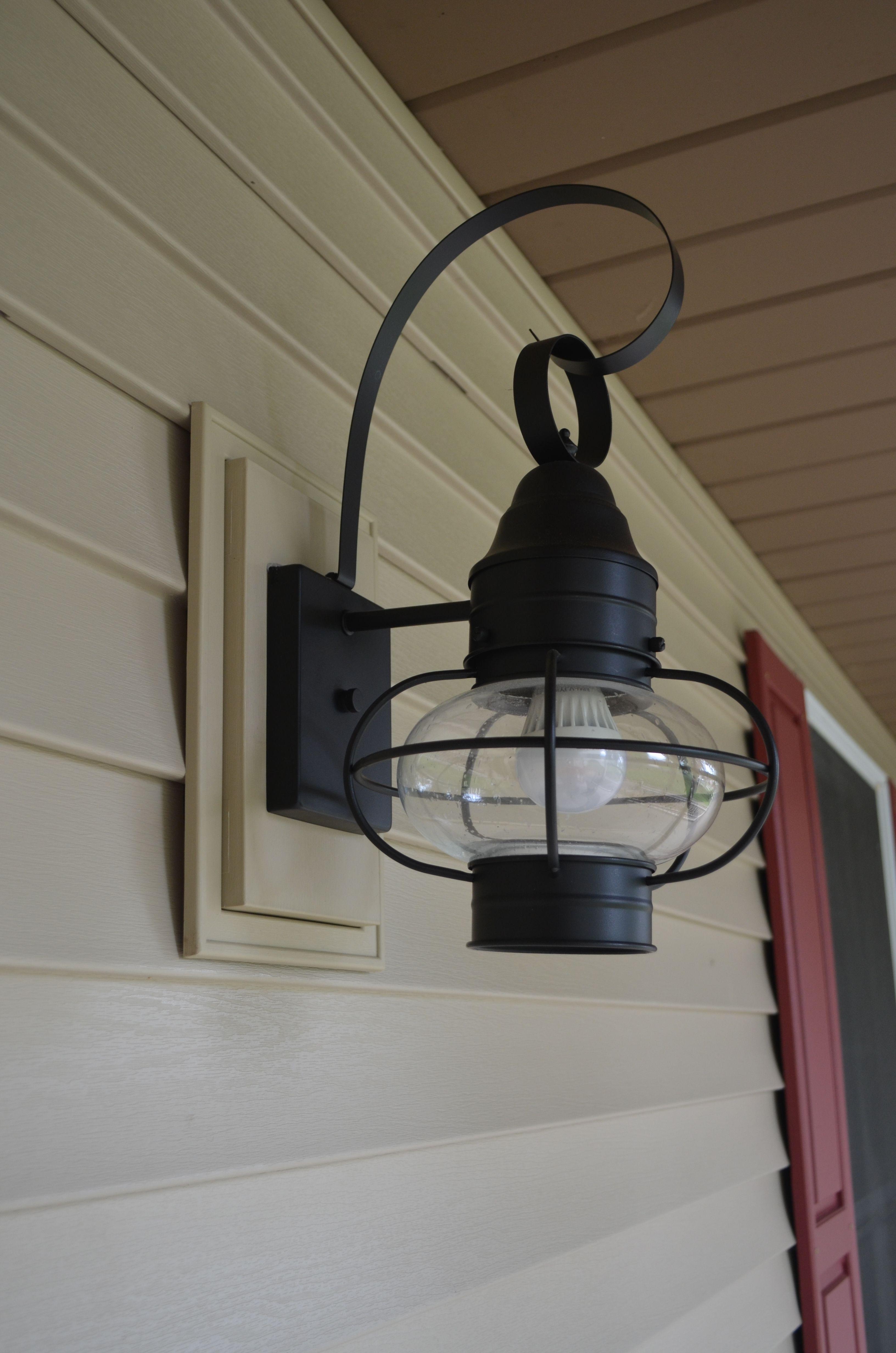 Featured Photo of Vinyl Outdoor Wall Lighting