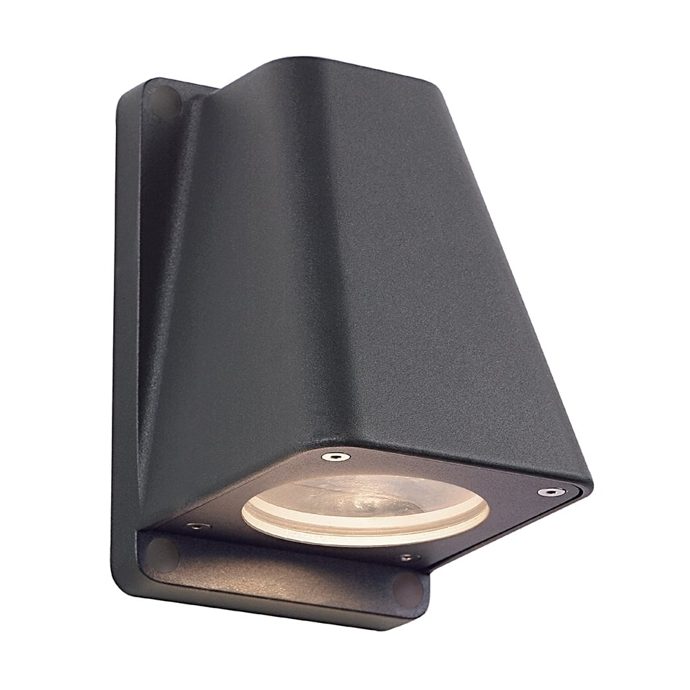 Wallyx Dark Grey/black Anthracite Garden Wall Light Intended For Current Big Outdoor Wall Lighting (View 6 of 20)