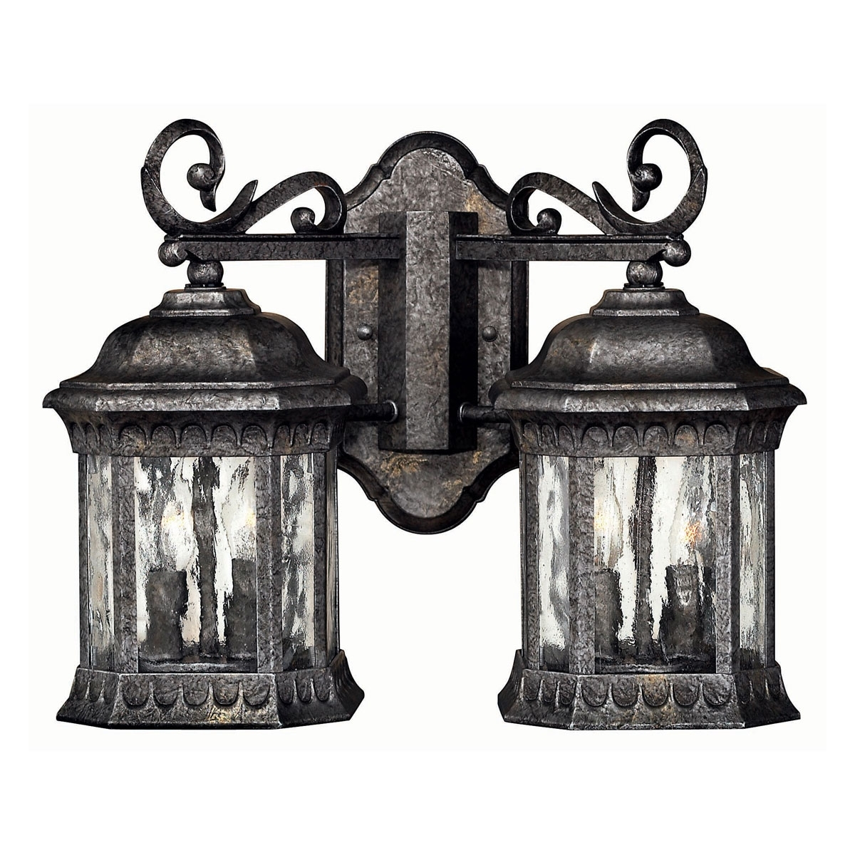 Well Known 1729Bg – Double Outdoor Wall Light (View 20 of 20)
