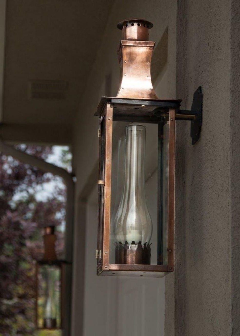 Well Known Accessories: Cozy Wall Mounted Glass Shade In Bronze Frame Gas Torch Throughout Outdoor Wall Mount Gas Lights (View 20 of 20)