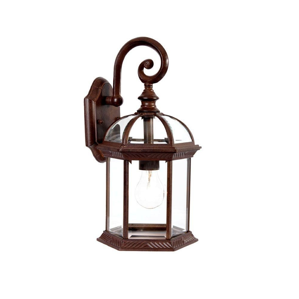 Well Known Acclaim Lighting Outdoor Wall Lights Intended For Acclaim Lighting Dover Collection 1 Light Burled Walnut Outdoor Wall (View 17 of 20)