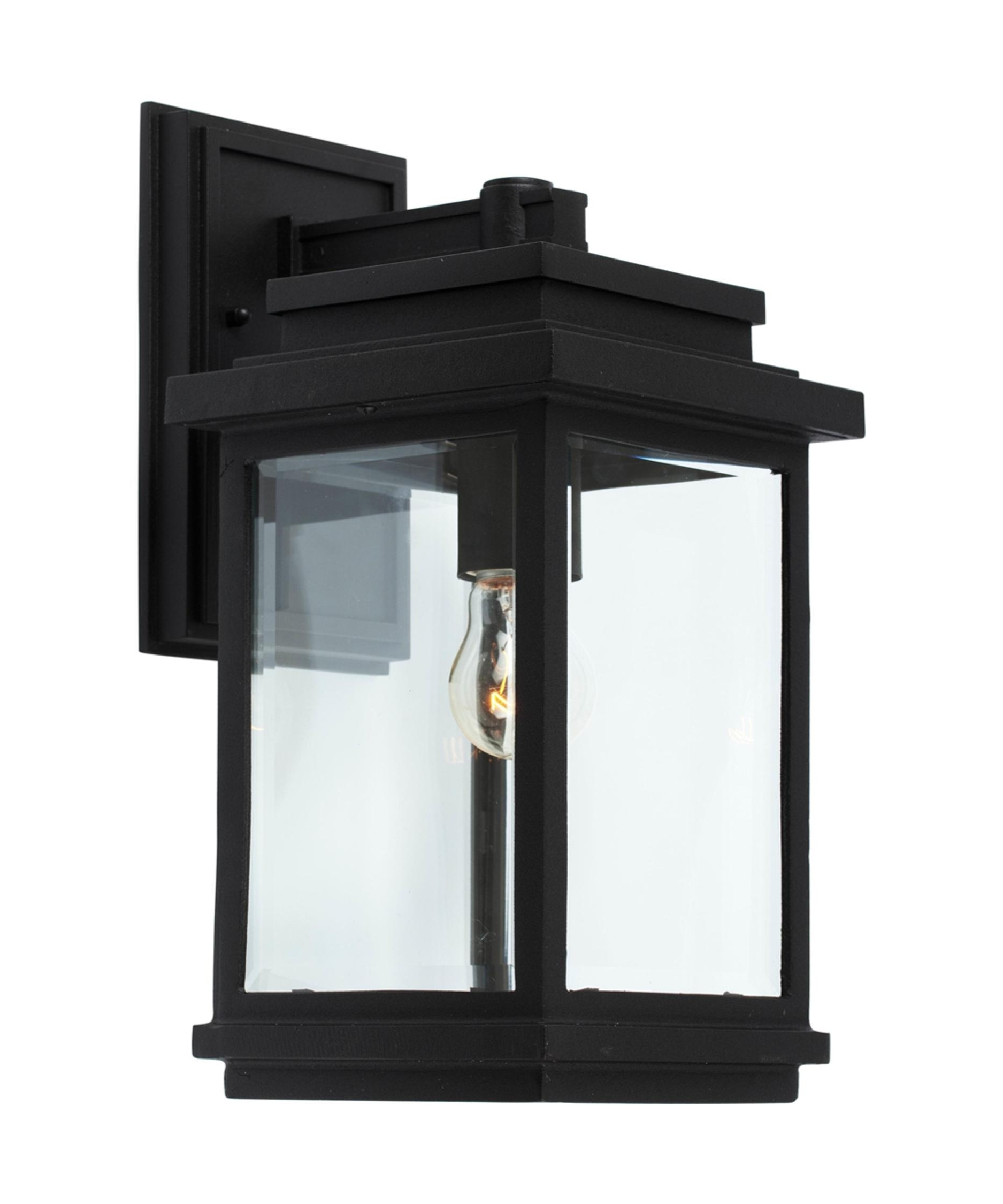 Well Known Artcraft Ac8290 Fremont 7 Inch Wide 1 Light Outdoor Wall Light Regarding Outdoor Wall Lights In Black (View 18 of 20)
