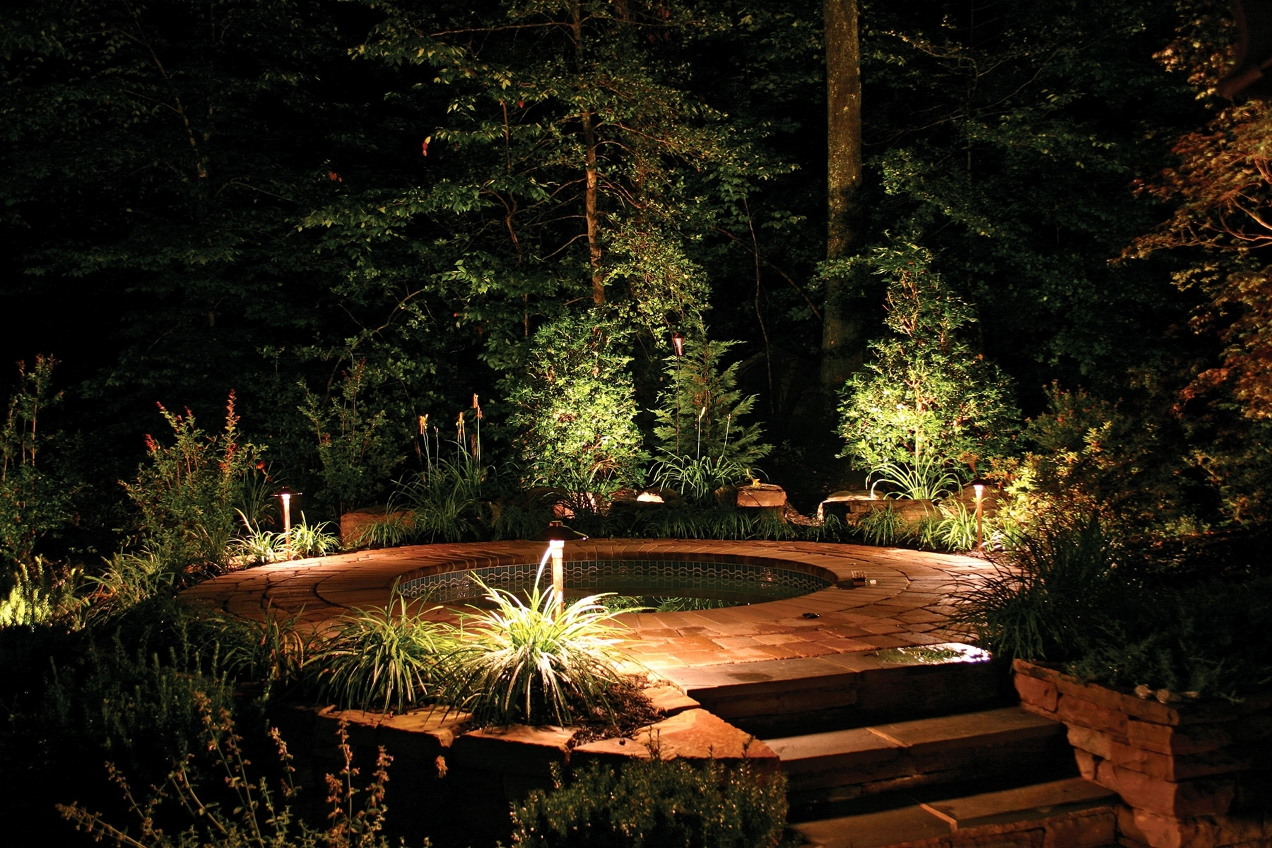 Well Known Best Of Electric Outdoor Lighting Garden Home Inspiration In