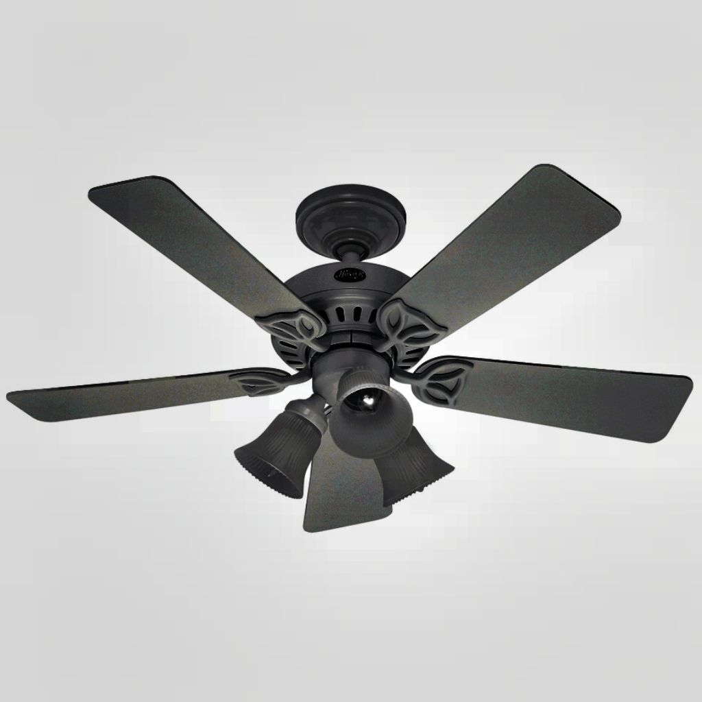 Well Known Black Outdoor Ceiling Fans With Light Intended For Best 10 Black Ceiling Fan With Lights Contemporary Design (View 11 of 20)