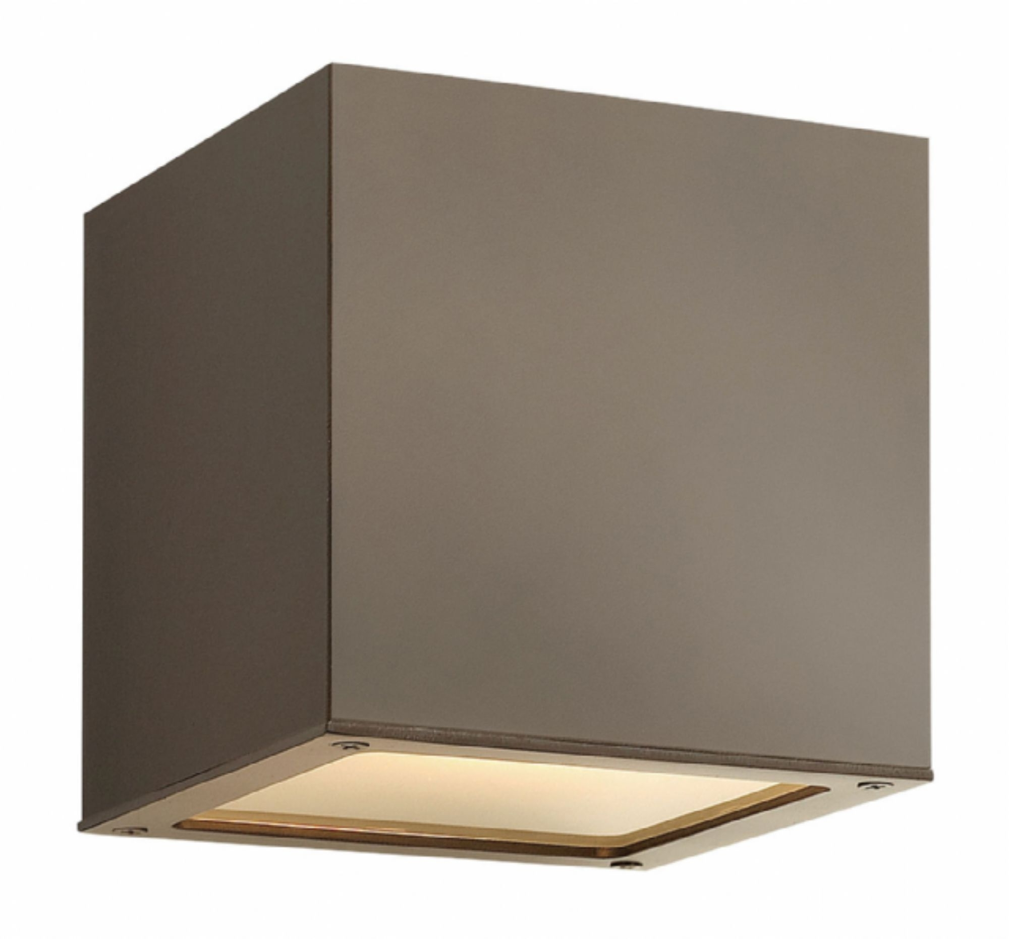 Well Known Bronze Kube > Exterior Wall Mount For Mini Wall Mount Hinkley Lighting (View 19 of 20)