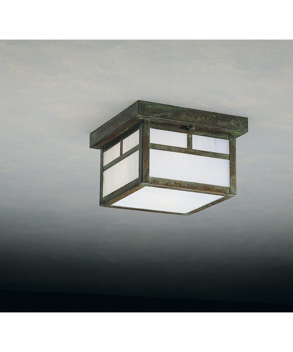Well Known Craftsman Style Outdoor Ceiling Lights Within Decoration : Outdoor Ceiling Light Fixtures Bronze Flush Mount (View 18 of 20)