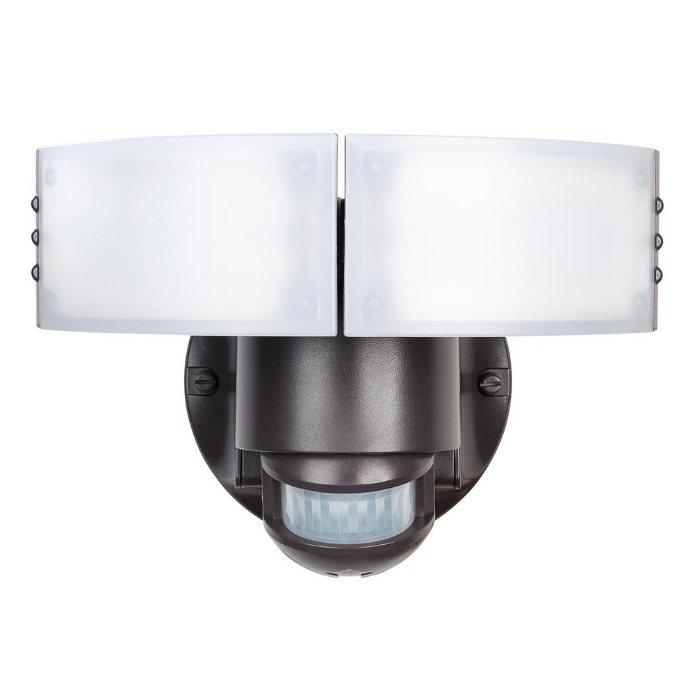 Well Known Defiant 180 Degree White Led Motion Outdoor Security Light Dfi 5982 Regarding Outdoor Ceiling Security Lights (View 14 of 20)