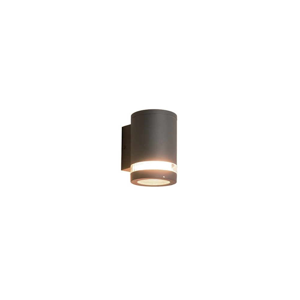Well Known Elstead Lighting Azure Low Energy 3 Dark Grey Outdoor Wall Light Intended For Grey Outdoor Wall Lights (View 8 of 20)