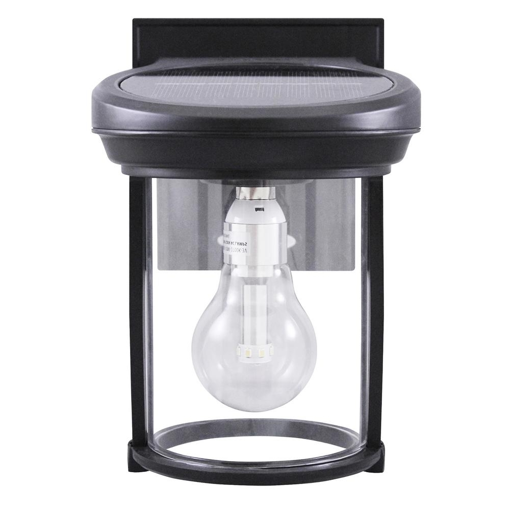 Well Known Gama Sonic Solar Coach 1 Light Black Outdoor Wall Lantern Gs 1B B Throughout Contemporary Garden Lights Fixture At Home Depot (View 13 of 20)