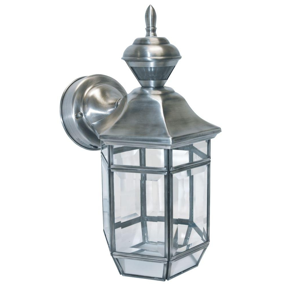 Well Known Heath Zenith 150 Degree Silver Lexington Lantern With Clear Beveled In Heath Zenith Outdoor Wall Lighting (View 18 of 20)