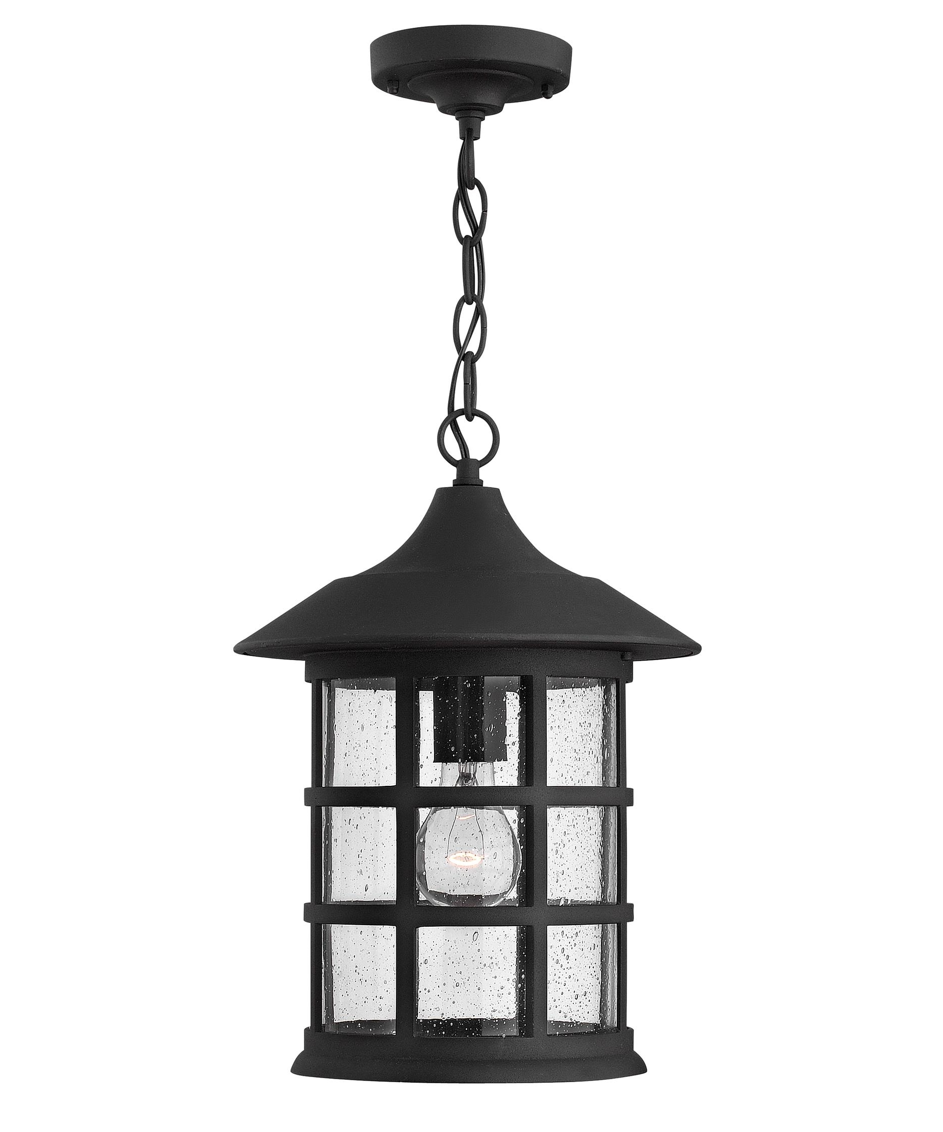 Well Known Hinkley Lighting 1802 Freeport 10 Inch Wide 1 Light Outdoor Hanging Intended For Outdoor Hanging Light Fixtures In Black (View 8 of 20)