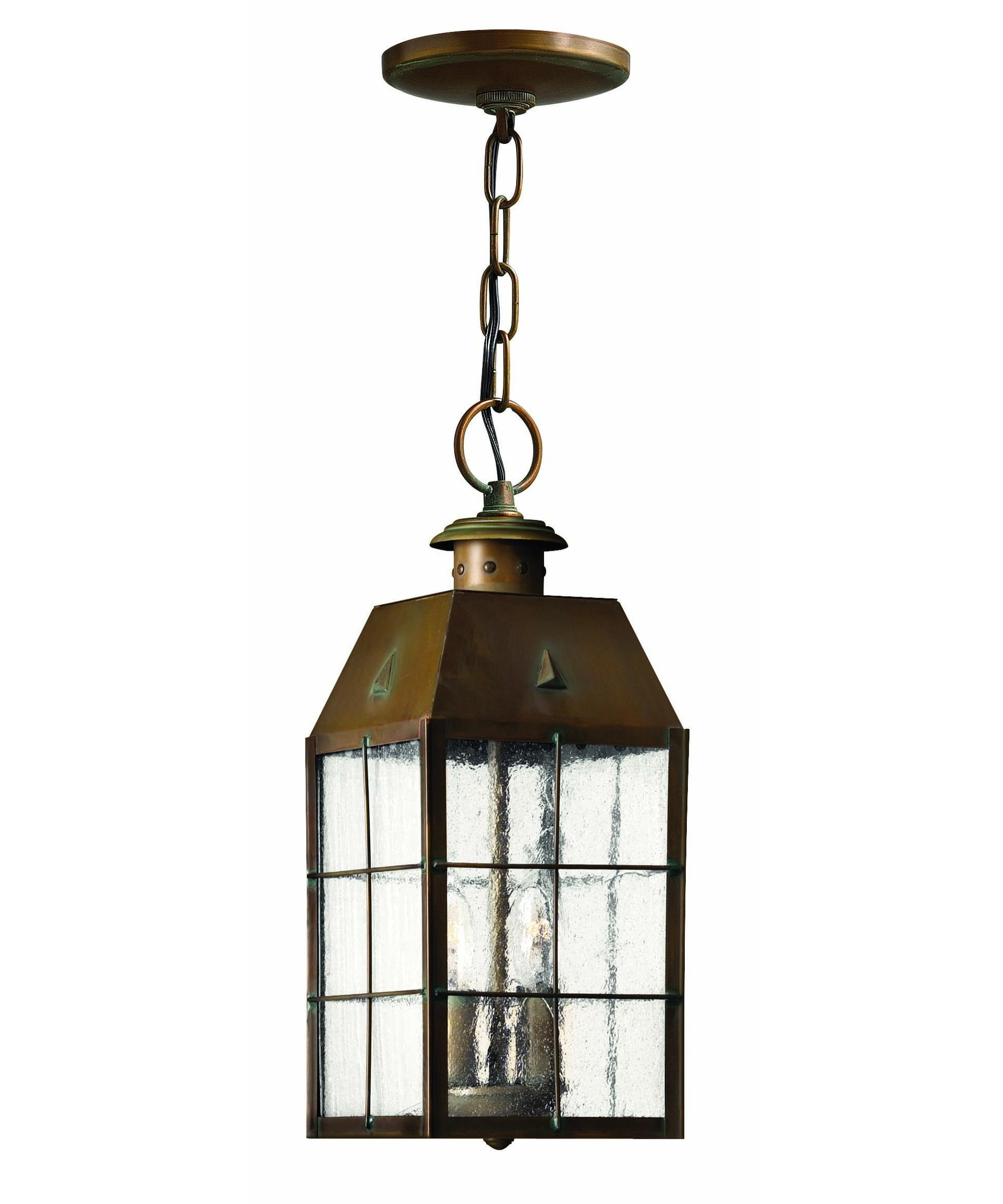 Well Known Hinkley Lighting 2372 Nantucket 6 Inch Wide 2 Light Outdoor Hanging Intended For Outdoor Hanging Glass Lanterns (View 16 of 20)