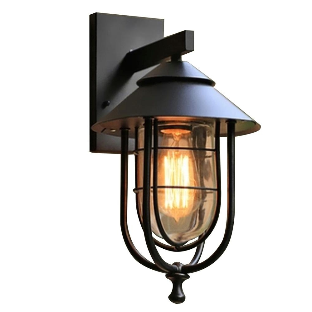 Well Known Home Decorators Collection 1 Light Sand Black Large Outdoor Wall Inside Large Outdoor Wall Lighting (View 19 of 20)