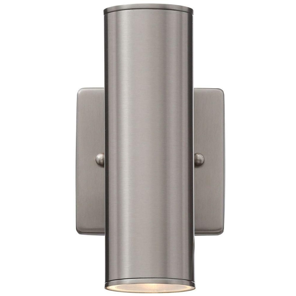Well Known Home Decorator's Collection Riga 2 Light Stainless Steel Outdoor With Stainless Steel Outdoor Wall Lights (View 19 of 20)