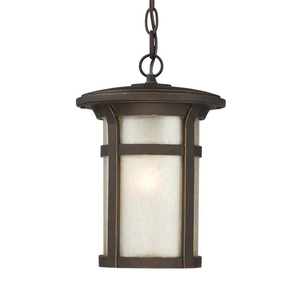 Well Known Home Decorators Collection Round Craftsman 1 Light Dark Rubbed For Round Outdoor Hanging Lights (View 20 of 20)