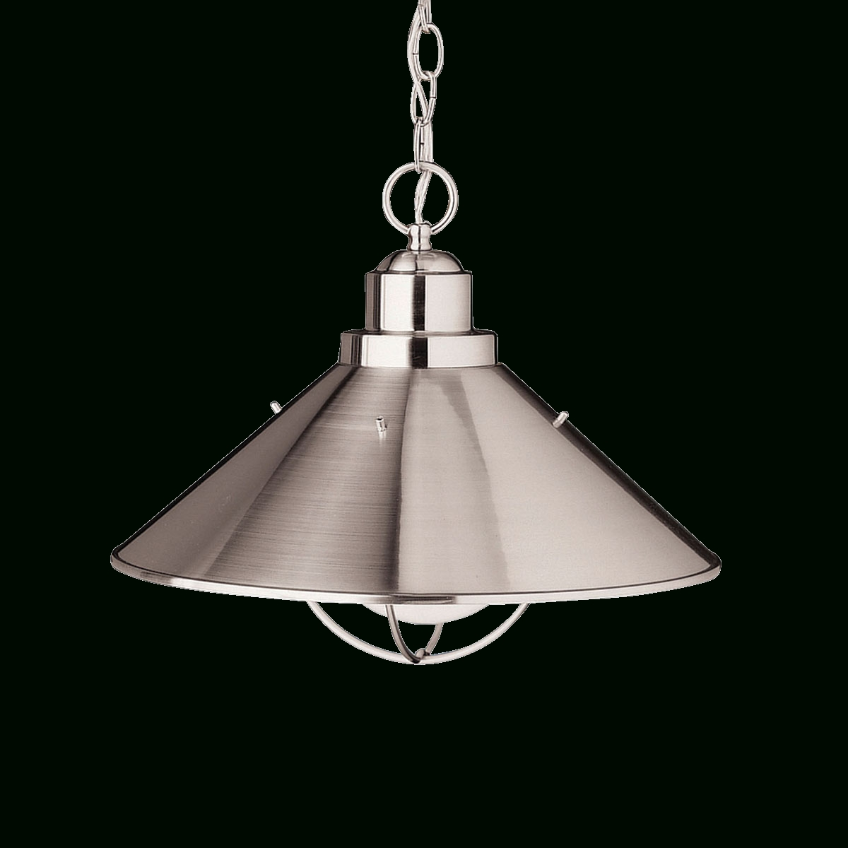 """Well Known Kichler Outdoor Hanging Lights Pertaining To Seaside – 16"""" Outdoor Hanging Pendant In Brushed Nickel (View 18 of 20)"""