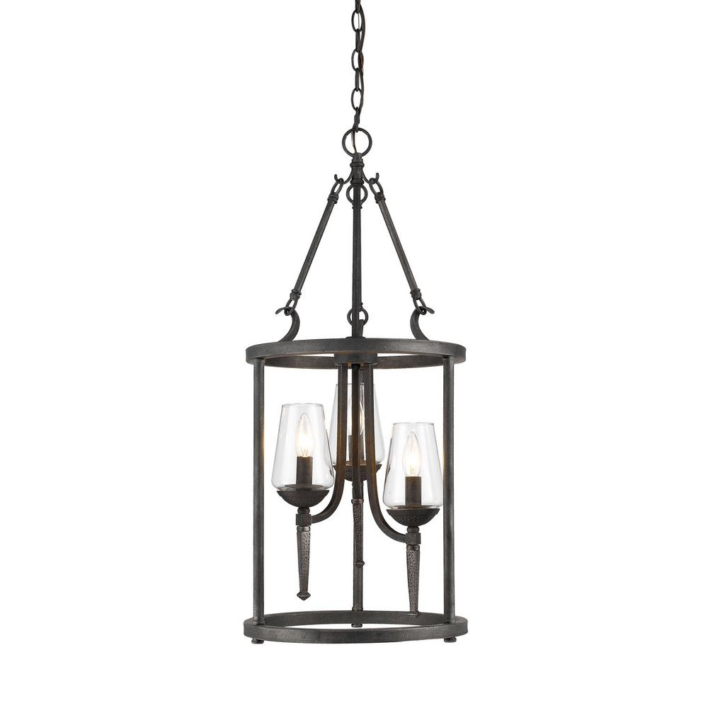 Well Known Lamp: Iron Cage Pendant Lights Hanging Lights The Home Depot Wrought Inside Outdoor Iron Hanging Lights (View 14 of 20)