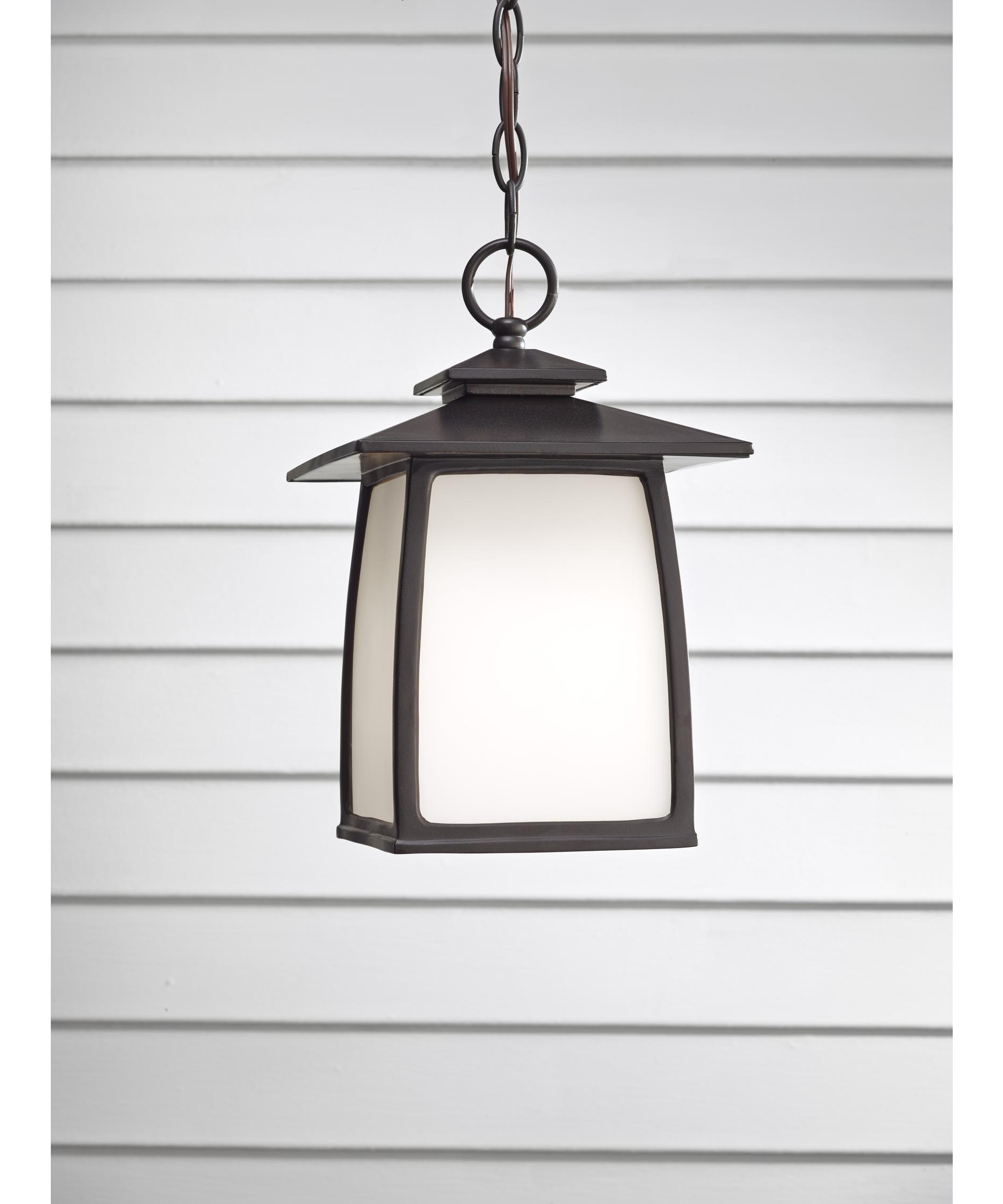 Well Known Led Outdoor Hanging Lanterns Intended For Murray Feiss Ol8511 Wright House 8 Inch Wide 1 Light Outdoor Hanging (View 19 of 20)
