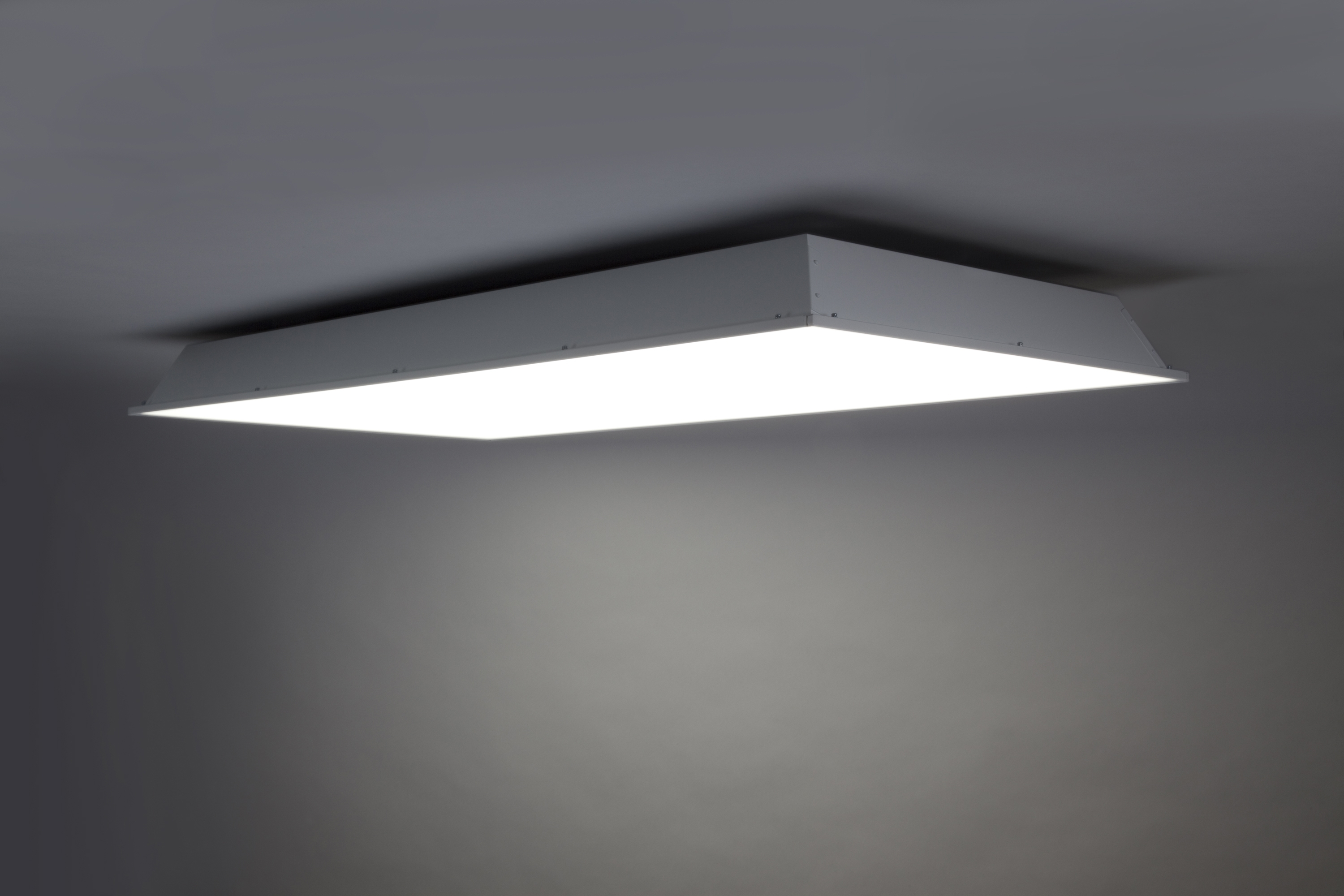 Well Known Light : Led Ceiling Light Fixture Square Cool White Bathroom Pertaining To Outdoor Fluorescent Ceiling Lights (View 8 of 20)