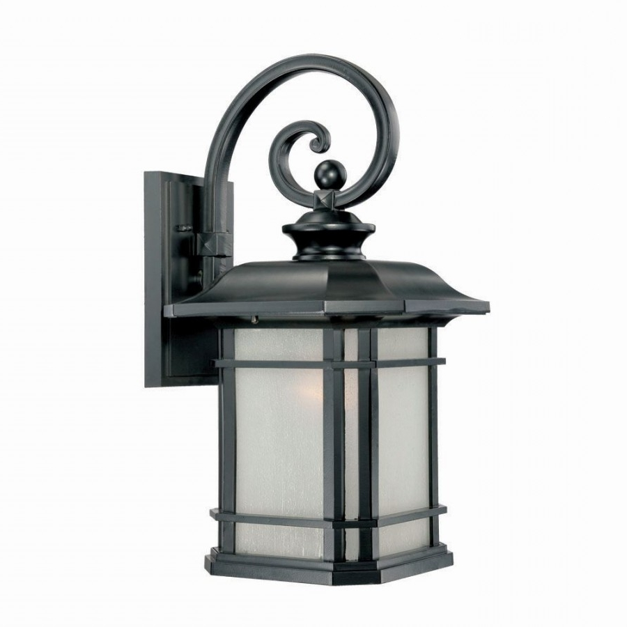 Well Known Lighting 8122Bk Somerset 1 Light Outdoor Wall Mount In Matte Black In Acclaim Lighting Outdoor Wall Lights (View 18 of 20)