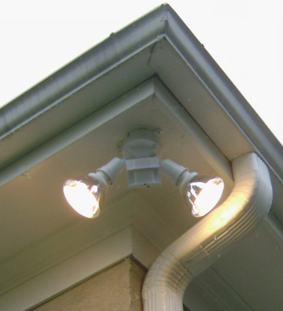 Well Known Lighting : Epic Installing Outdoor Flood Lights Under Eaves With Intended For Outdoor Ceiling Flood Lights (View 18 of 20)