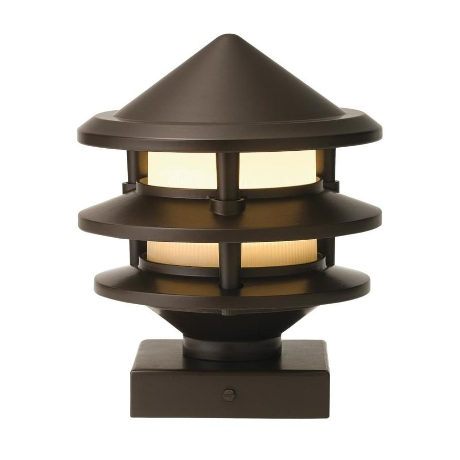 Well Known Low Voltage Led Post Lights With Regard To Shop Kichler 3 Watt Olde Bronze Low Voltage Led Post Deck Light At (View 14 of 20)