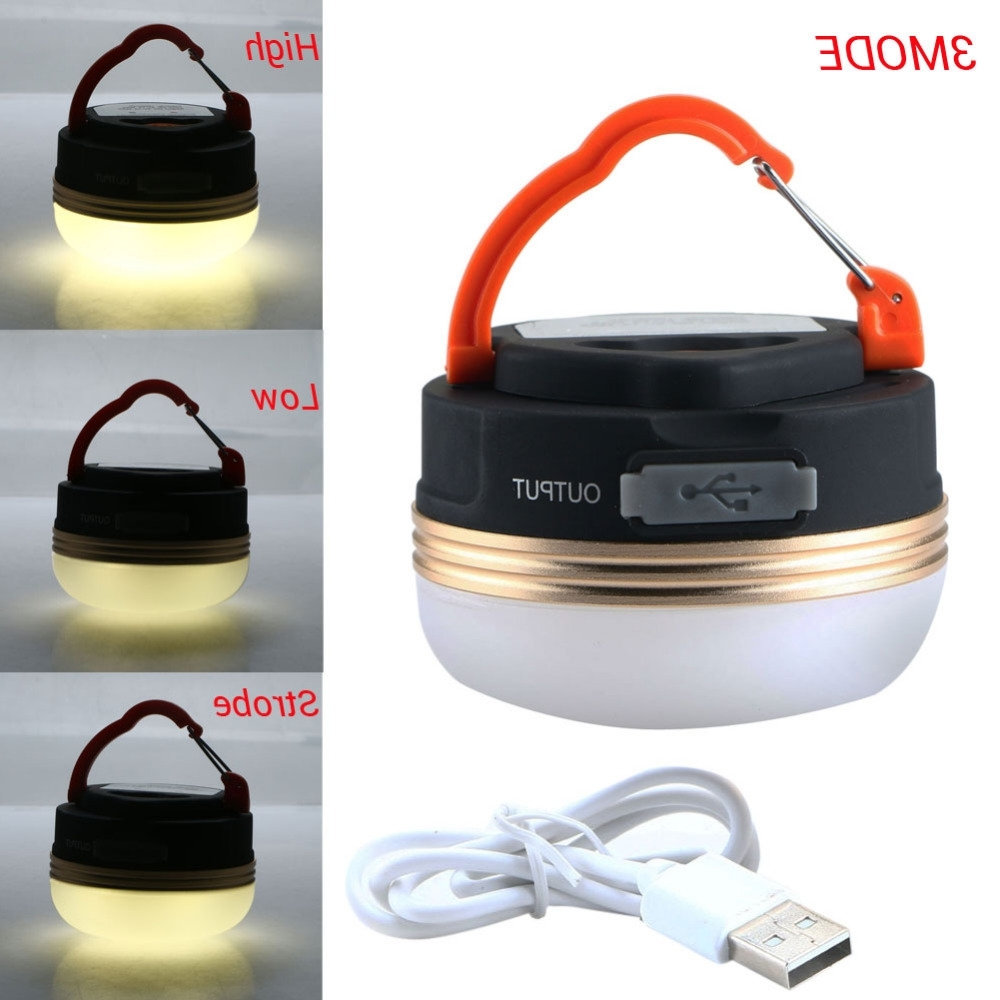 Well Known Mini Portable Camping Lights 3W Led Camping Lantern Waterproof Tents Inside Outdoor Hanging Camping Lights (View 18 of 20)