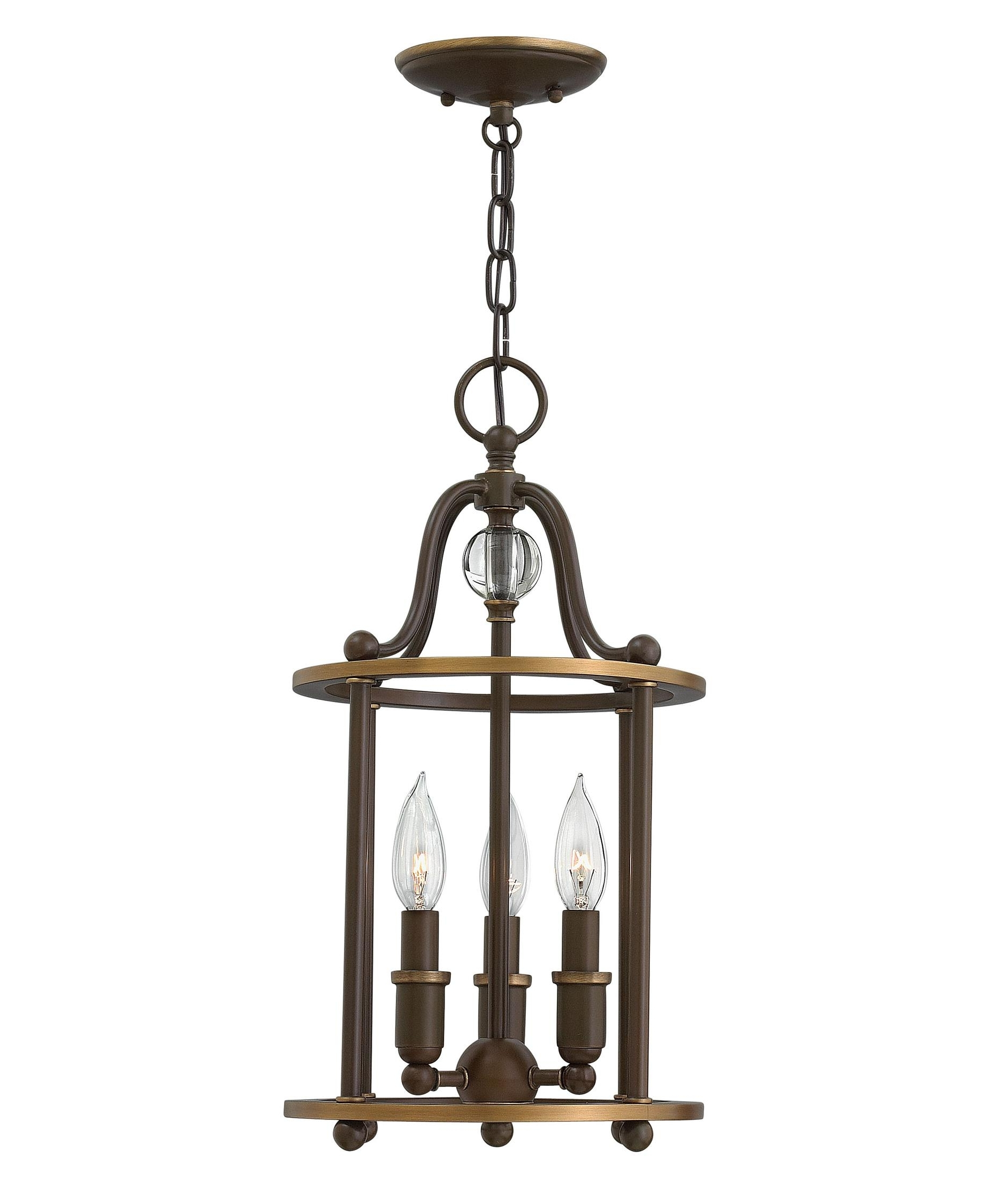Well Known Mini Wall Mount Hinkley Lighting Inside Hinkley Lighting 4353 Elaine 10 Inch Wide Foyer Pendant (View 11 of 20)