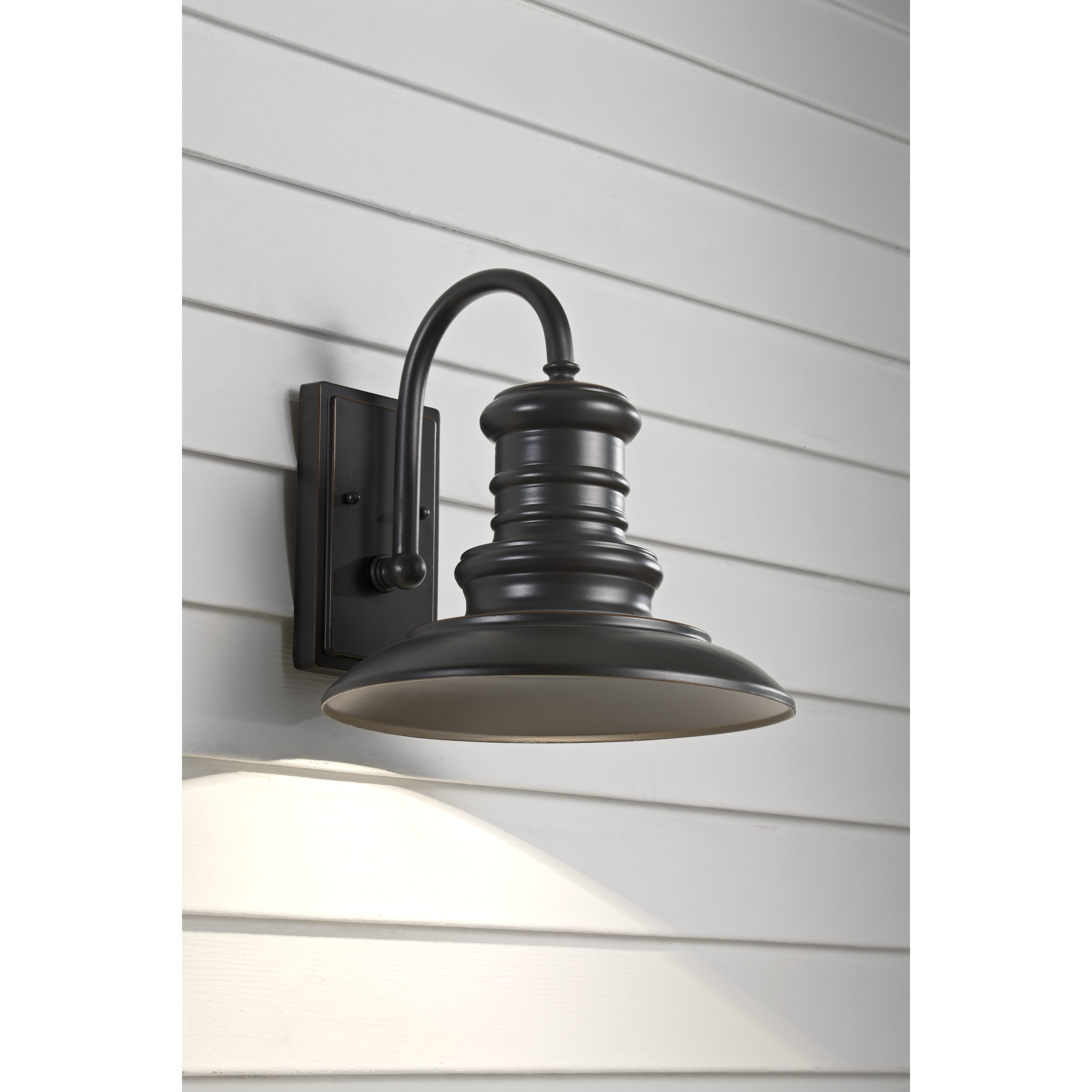 Well Known Modern Rustic Outdoor Lighting Att Wayfair Pertaining To Modern Outdoor Wall Lighting Allmodern Redding Station 1 Light (View 12 of 20)
