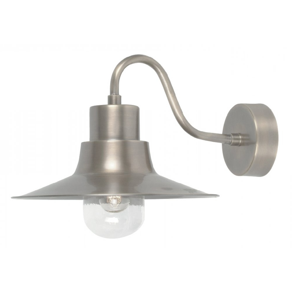 Well Known Nickel Outdoor Wall Lighting Regarding Elstead Lighting Sheldon Antique Nickel Outdoor Wall Light (View 18 of 20)
