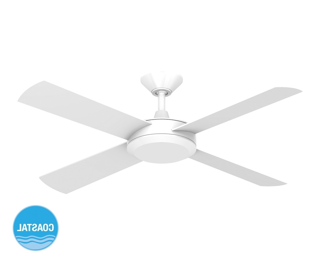Well Known Outdoor Ceiling Fan Beacon Lighting With Concept Ii 2014 132cm Timber Blade Fan In White (View 3 of 20)