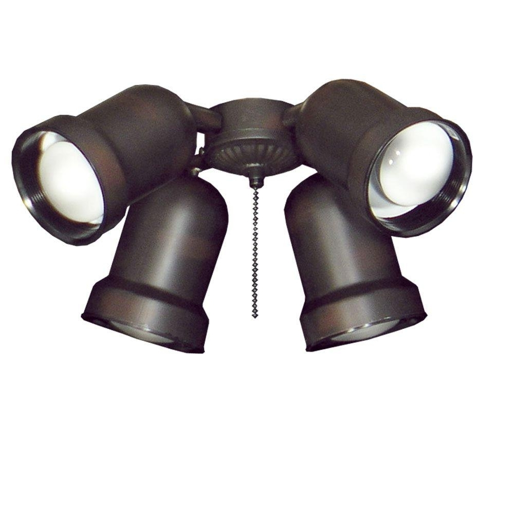 Well Known Outdoor Directional Ceiling Lights Intended For Troposair 463 Spotlight Oil Rubbed Bronze Indoor/outdoor Ceiling Fan (View 17 of 20)