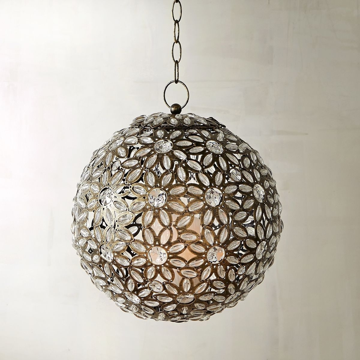 Well Known Outdoor Hanging Carriage Lights With Regard To Caravan Clear Gem Round Hanging Lantern (View 18 of 20)