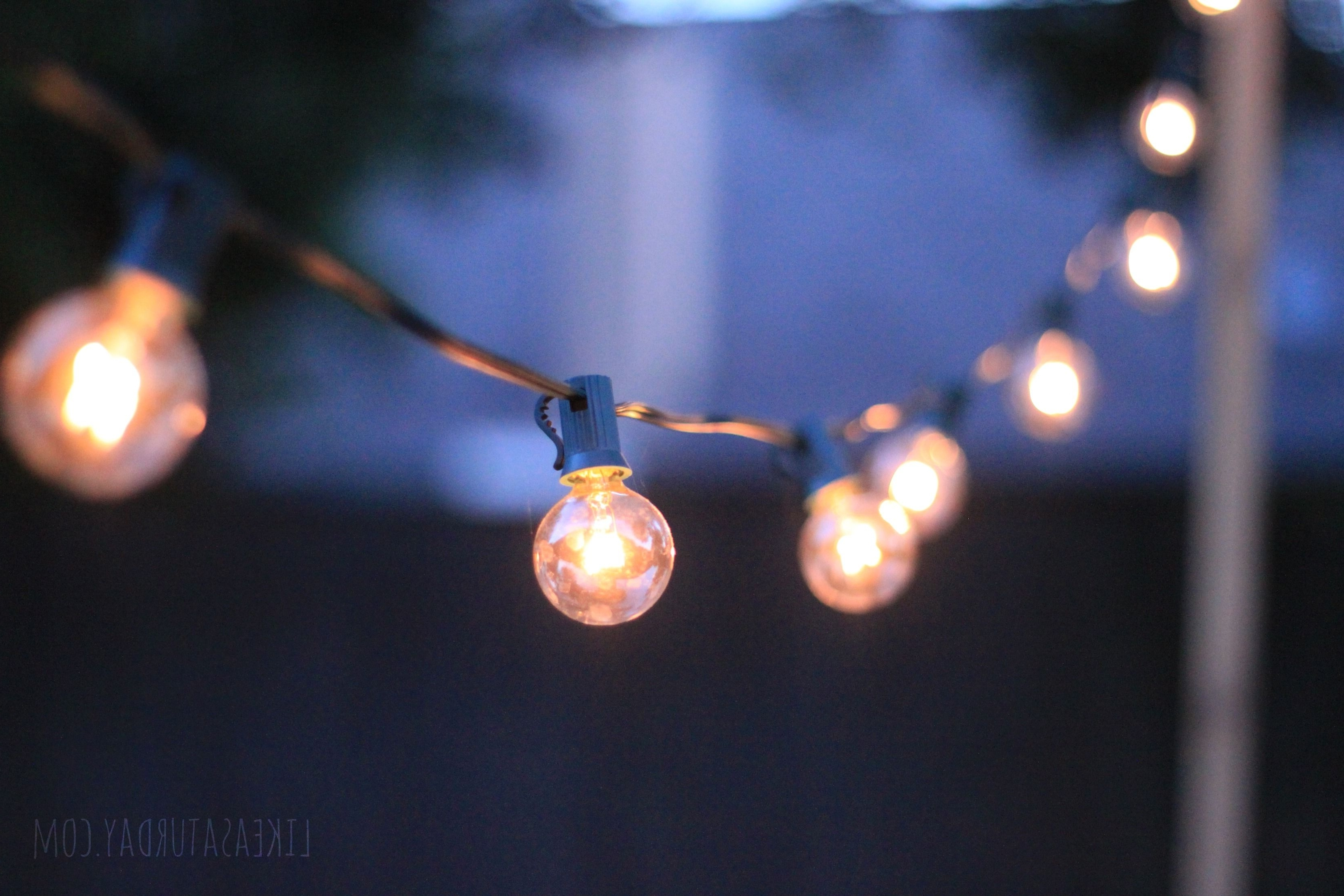 Well Known Outdoor Hanging String Light Bulbs Inside How To Hang Patio String Lights (View 18 of 20)