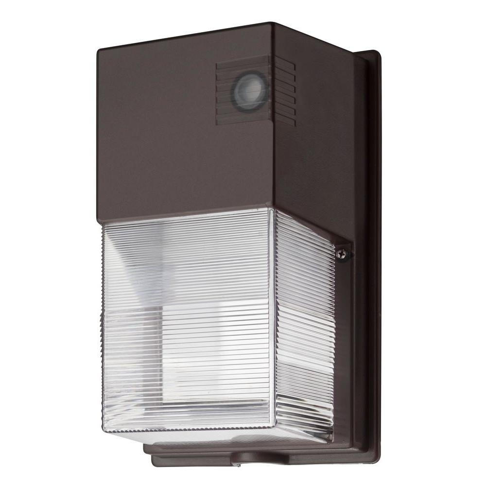 Well Known Outdoor Led Wall Lighting Regarding Lithonia Lighting Bronze Led Outdoor Wall Mount Wall Pack Light Owp (View 17 of 20)