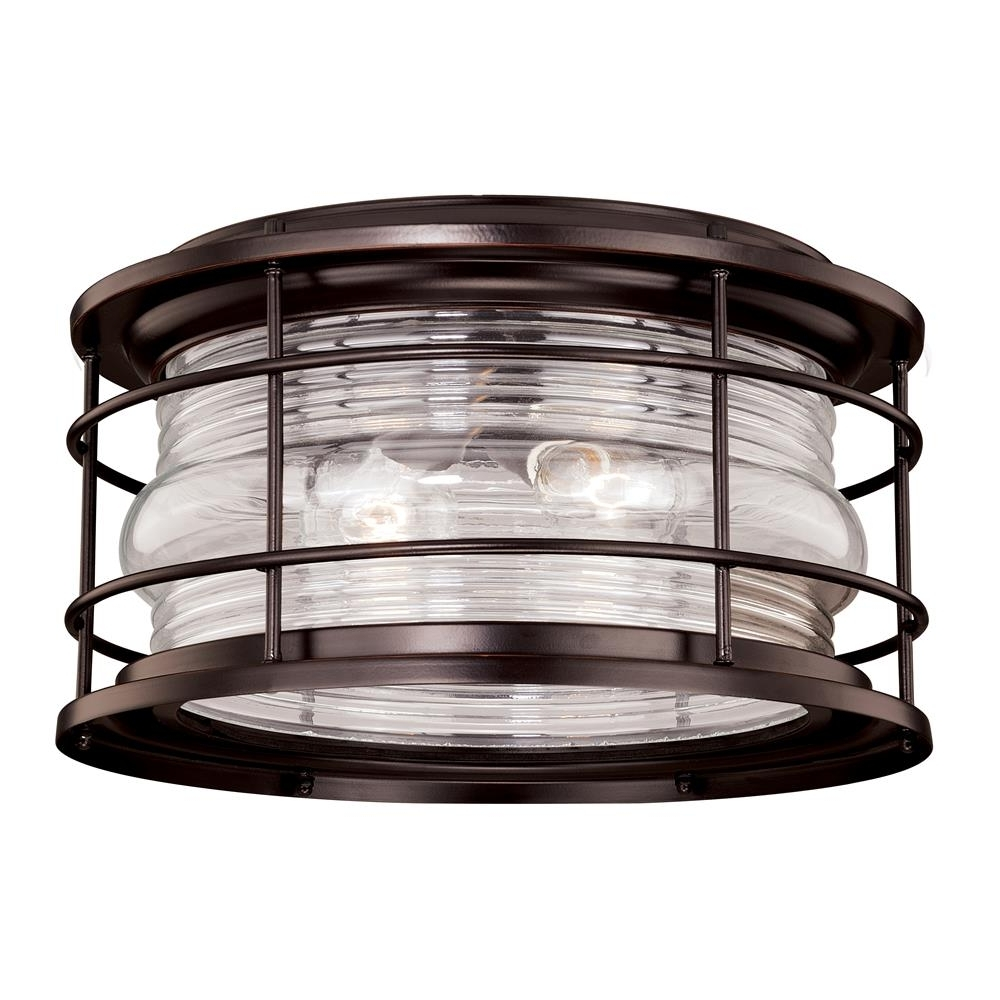 Well Known Outdoor Semi Flush Ceiling Lights Intended For Vaxcel Lighting Outdoor Flush / Semi Flush Mount Ceiling Lighting (View 16 of 20)