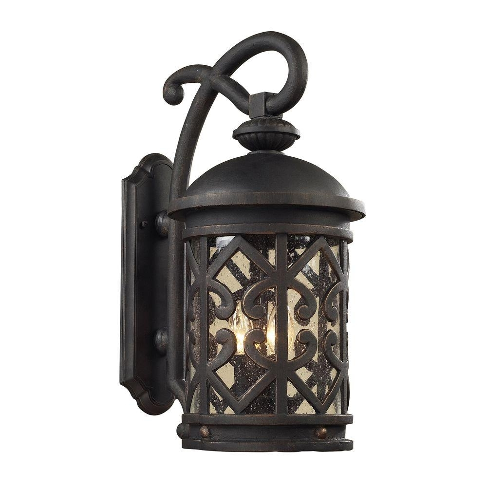 Well Known Outdoor Wall Lights For Coastal Areas For Titan Lighting Tuscany Coast 2 Light Outdoor Weathered Charcoal Wall (View 18 of 20)