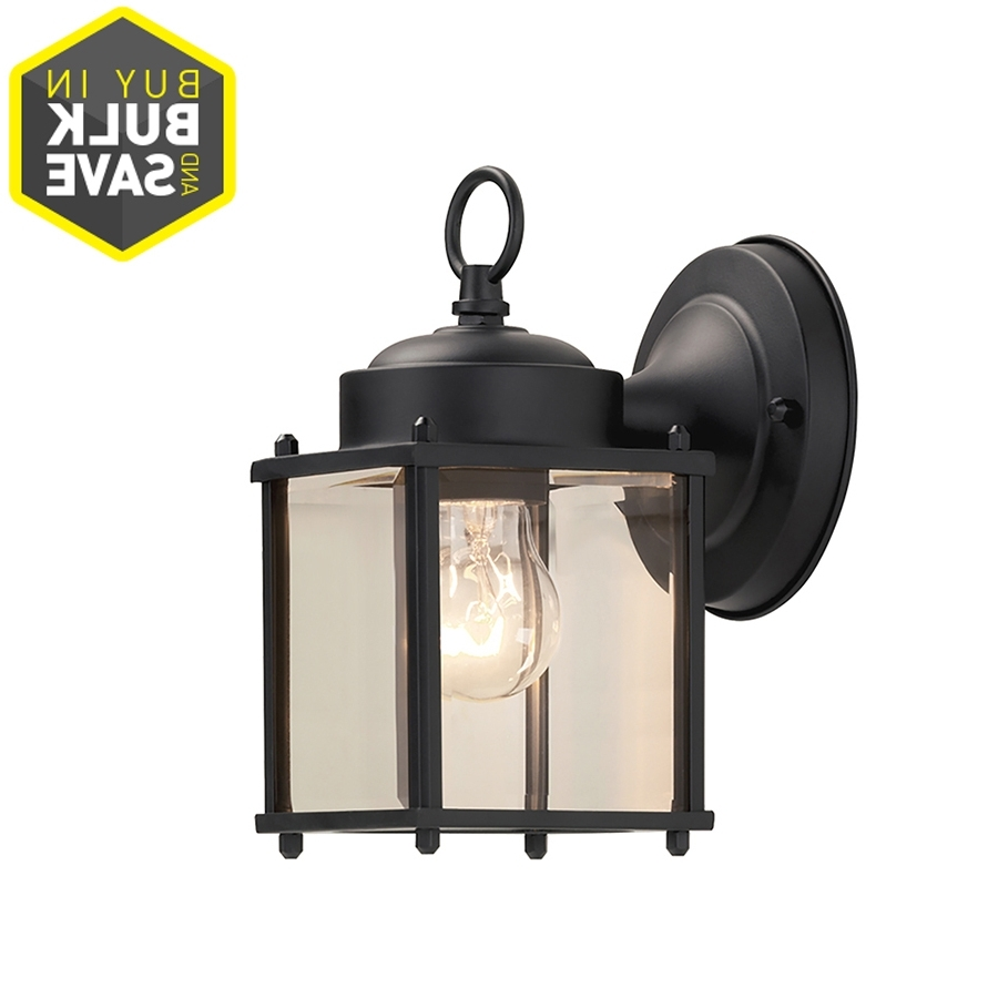 Well Known Outdoor Wall Lights In Black In Shop Portfolio  (View 19 of 20)