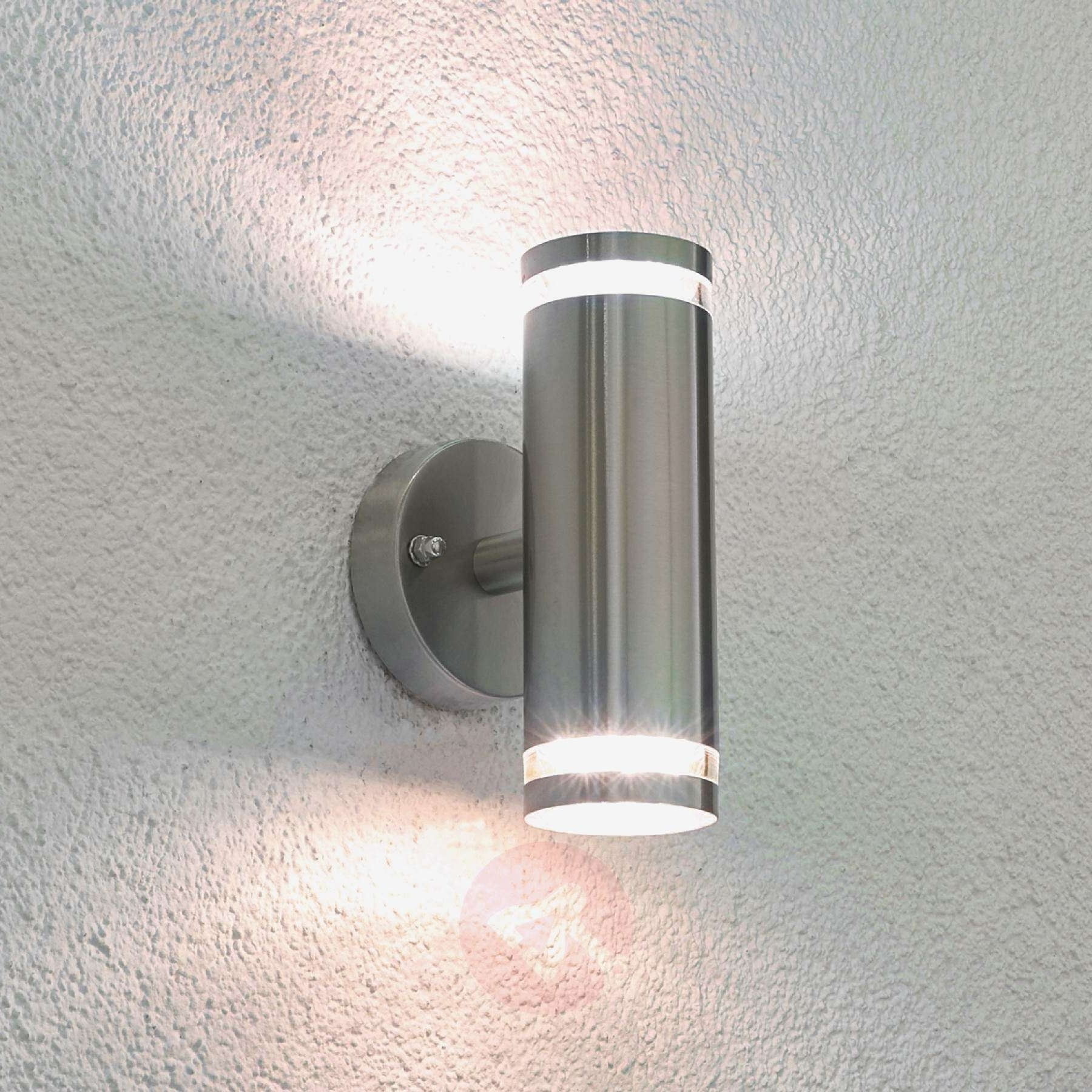 Well Known Outdoor Wall Lights Uk Top Tiberus Stainless Steel Led Outdoor Wall In Outside Wall Lighting (View 20 of 20)