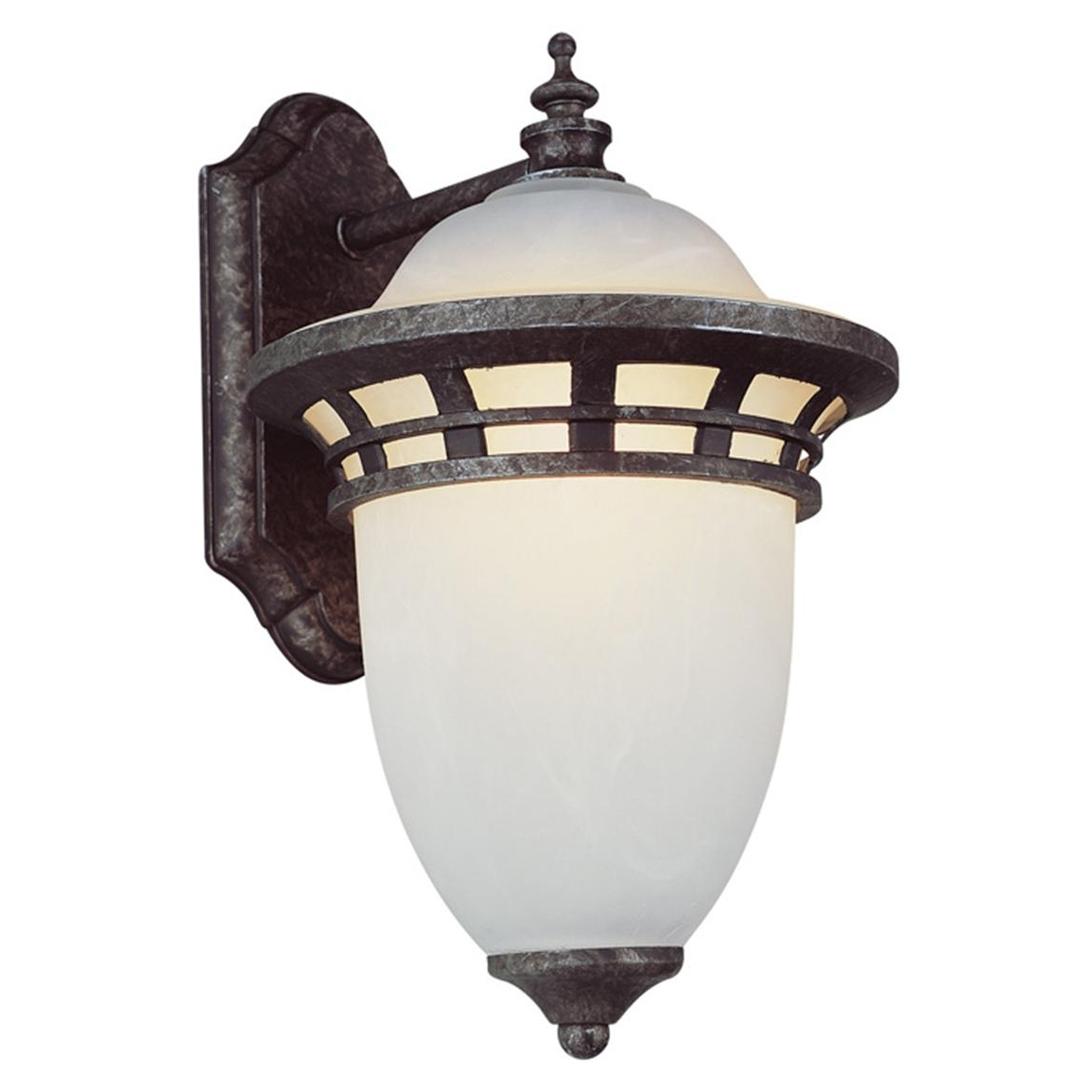 Well Known Outdoor Wall Mounted Globe Lights Intended For Trans Globe Lighting 1 – Light Outdoor Antique Wall Lantern –  (View 18 of 20)