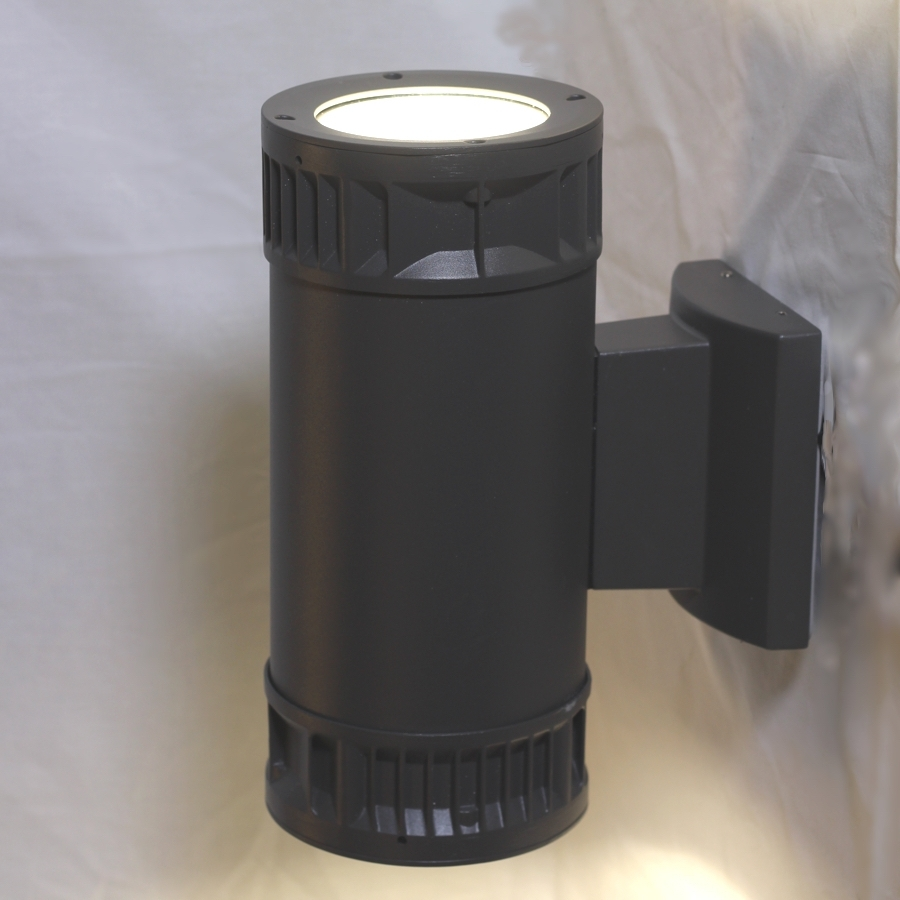 Well Known Outdoor Wall Sconce: 40w Up Down Led Fixture 120 277v Within High End Outdoor Wall Lighting (View 14 of 20)