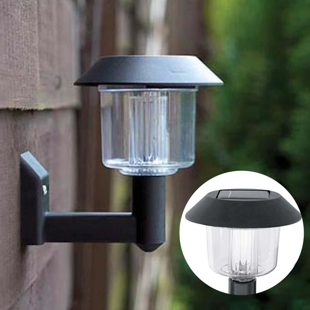 Well Known Outdoor Wall Solar Lighting Throughout Solar Powered Wall Light Auto Sensor Fence Led Garden Yard Fence (View 18 of 20)