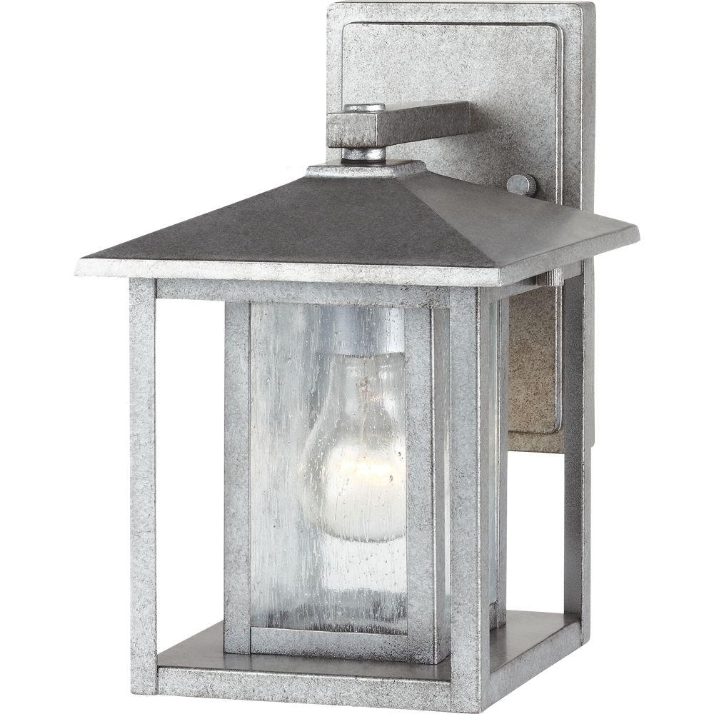 Well Known Pewter – Outdoor Wall Mounted Lighting – Outdoor Lighting – The Home With Regard To Pewter Outdoor Wall Lights (View 18 of 20)