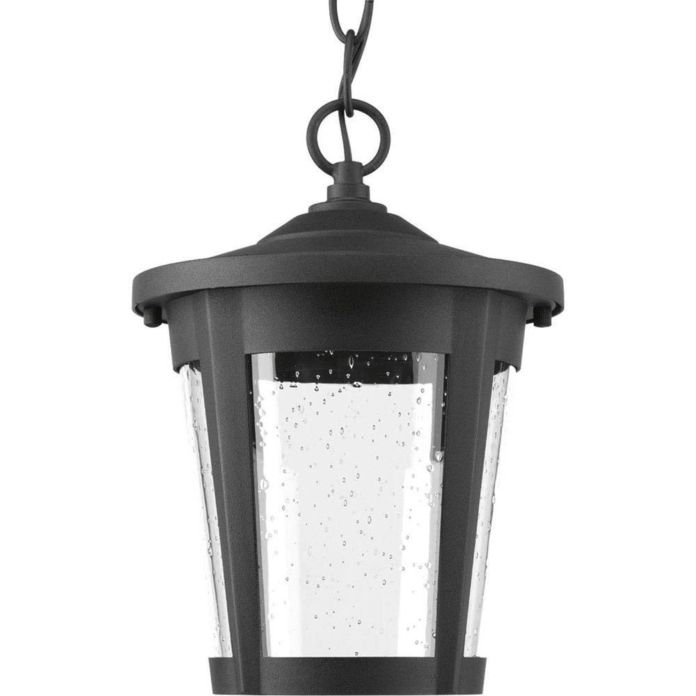Well Known Progress Lighting East Haven Collection 1 Light Outdoor Black Led Regarding Led Outdoor Hanging Lanterns (View 18 of 20)
