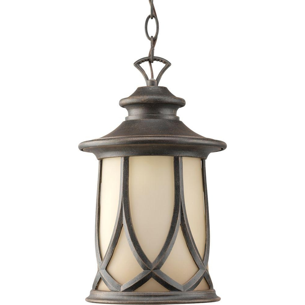 Well Known Progress Lighting Resort Collection 1 Light Aged Copper Outdoor Throughout Outdoor Hanging Lighting Fixtures At Home Depot (View 20 of 20)