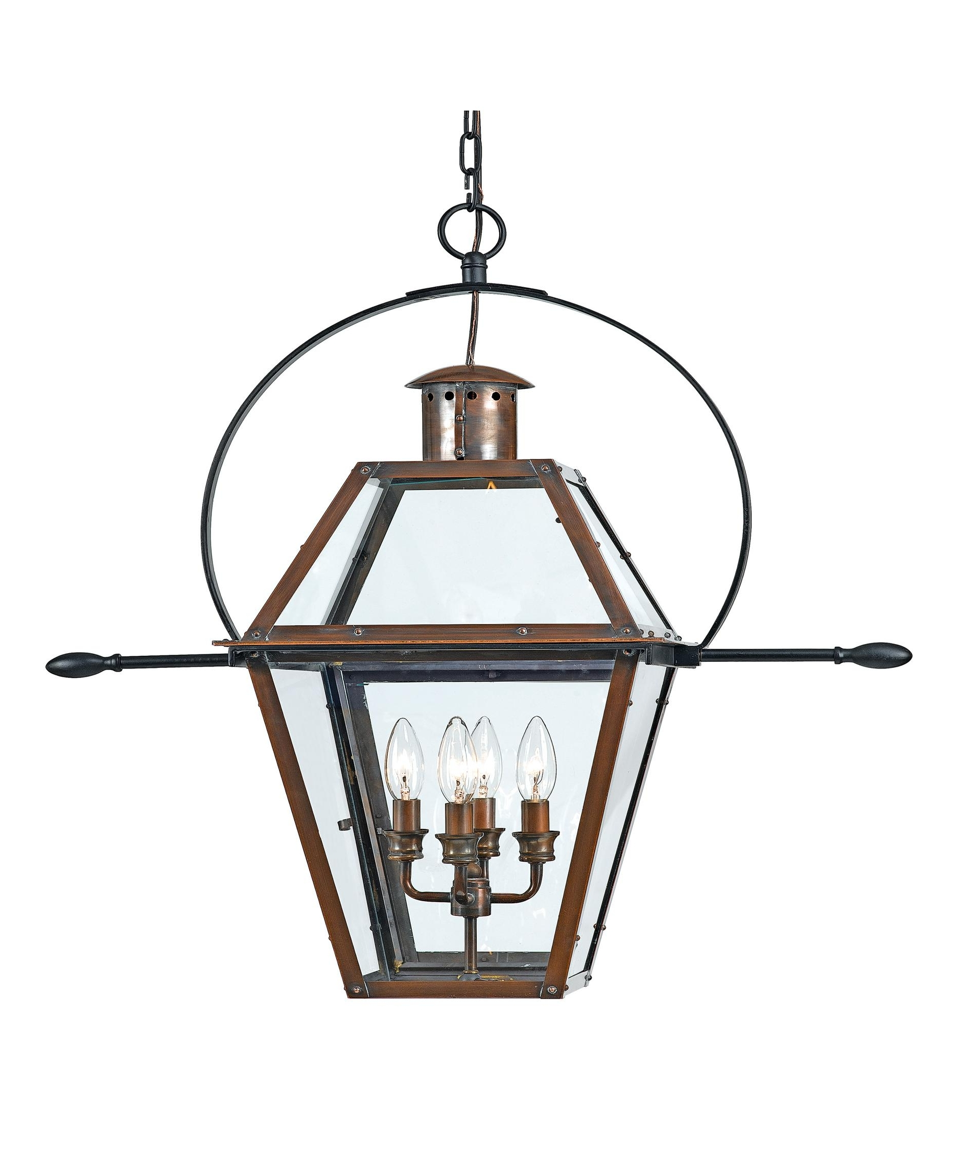 Well Known Quoizel Outdoor Hanging Lights Intended For Quoizel Ro1914 Rue De Royal 14 Inch Wide 4 Light Outdoor Hanging (View 6 of 20)