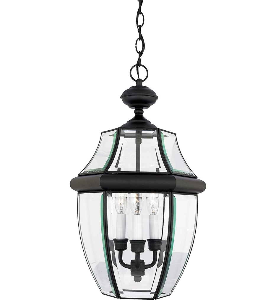 Well Known Quoizel Outdoor Hanging Lights Pertaining To Quoizel – Ny1179k – Newbury Mystic Black 3 Light Outdoor Hanging (View 13 of 20)