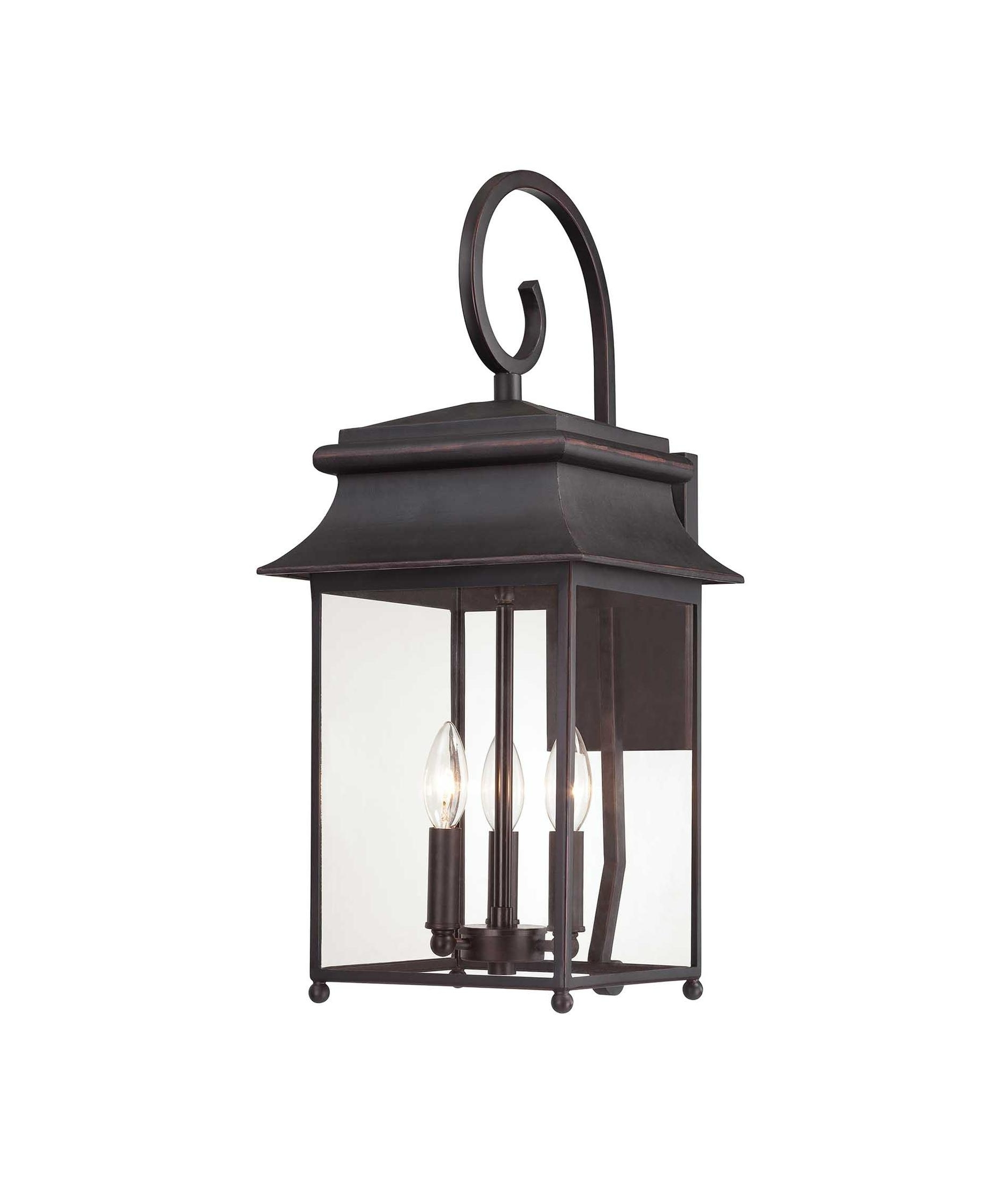 Well Known Savoy House 5 9541 25 Durham 10 Inch Wide 3 Light Outdoor Wall Light In Large Outdoor Wall Lighting (View 18 of 20)
