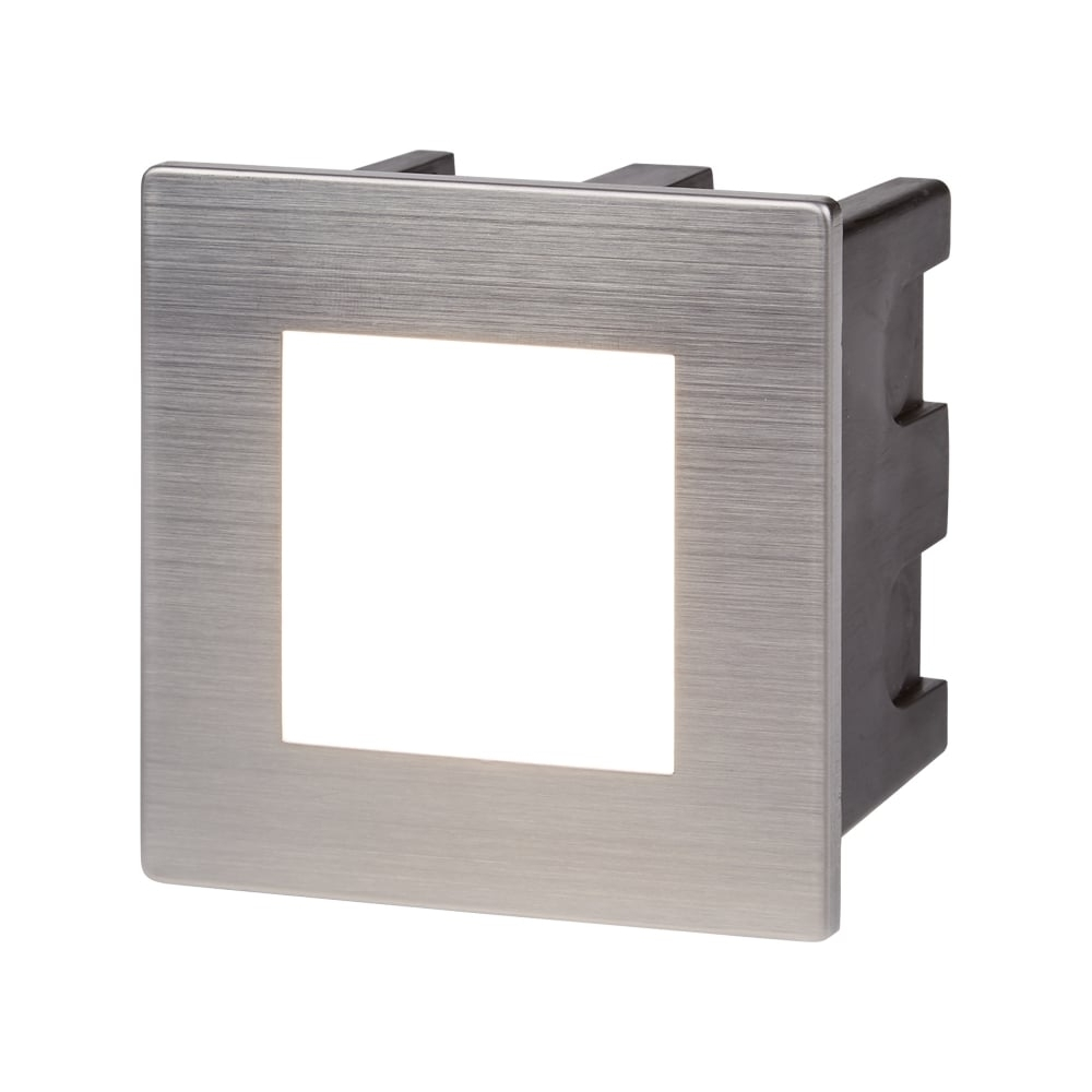 Well Known Searchlight Ankle Outdoor Square Recessed Wall Light In Stainless Within Recessed Outdoor Wall Lighting (View 17 of 20)
