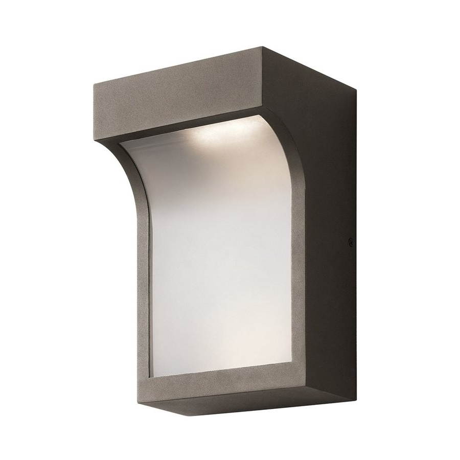 Well Known Shop Kichler Shelby 11 In H Textured Architectural Bronze Led Within Architectural Outdoor Wall Lighting (View 19 of 20)